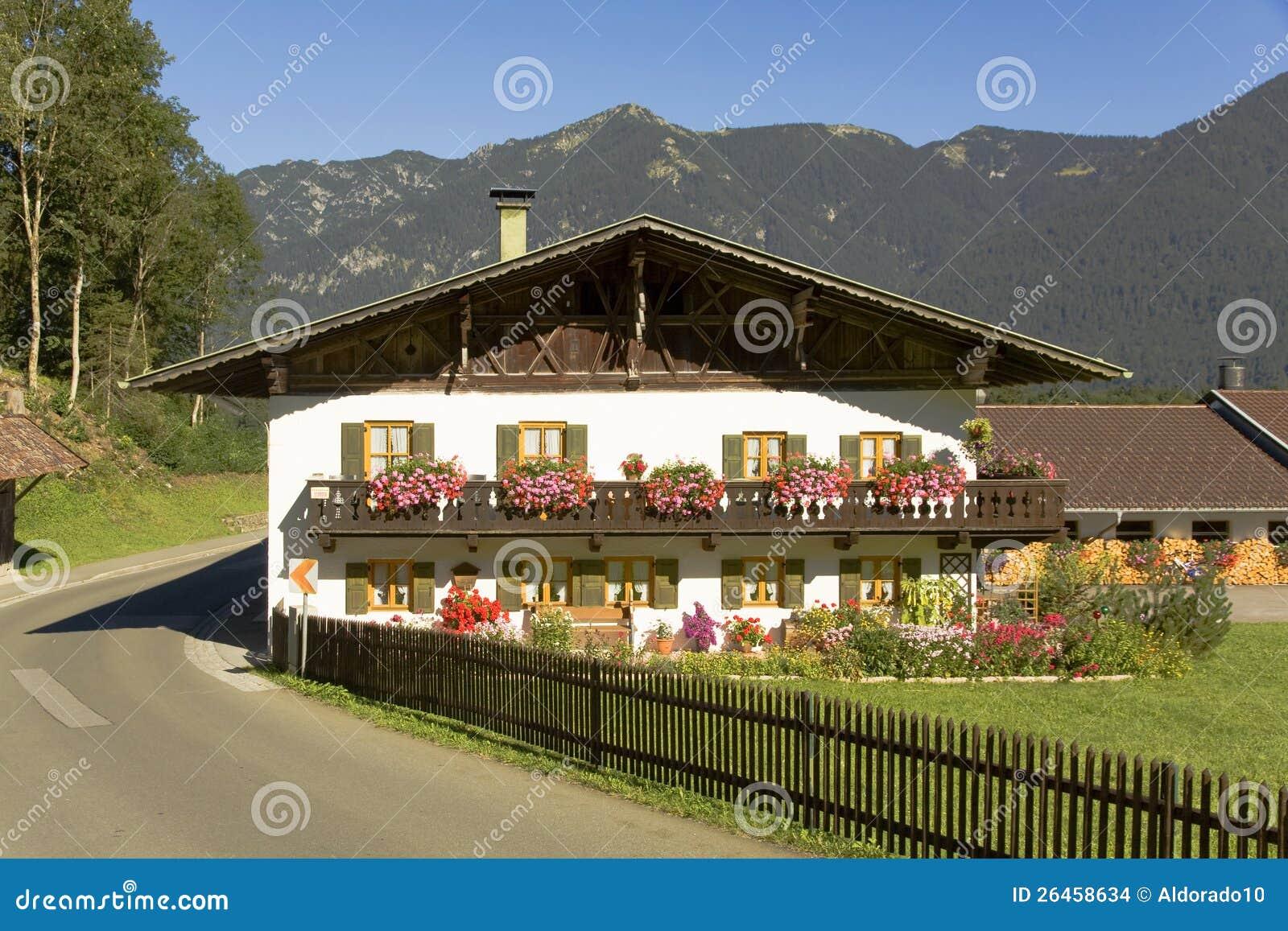 Bavarian house stock photo image of bavaria home house for Bavarian house plans