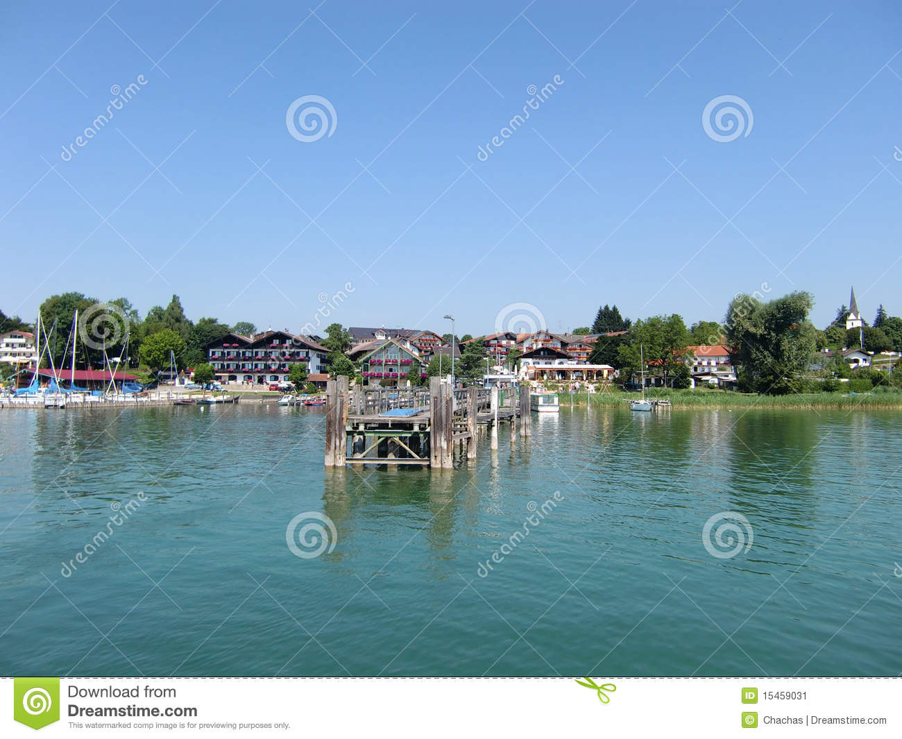 Bavarian lakefront resort stock image image 15459031 for Design hotel chiemsee