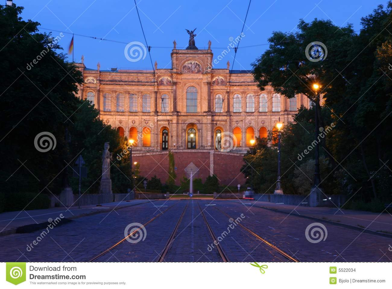 Bavarian Parliament In Munich Stock Images Image 5522034
