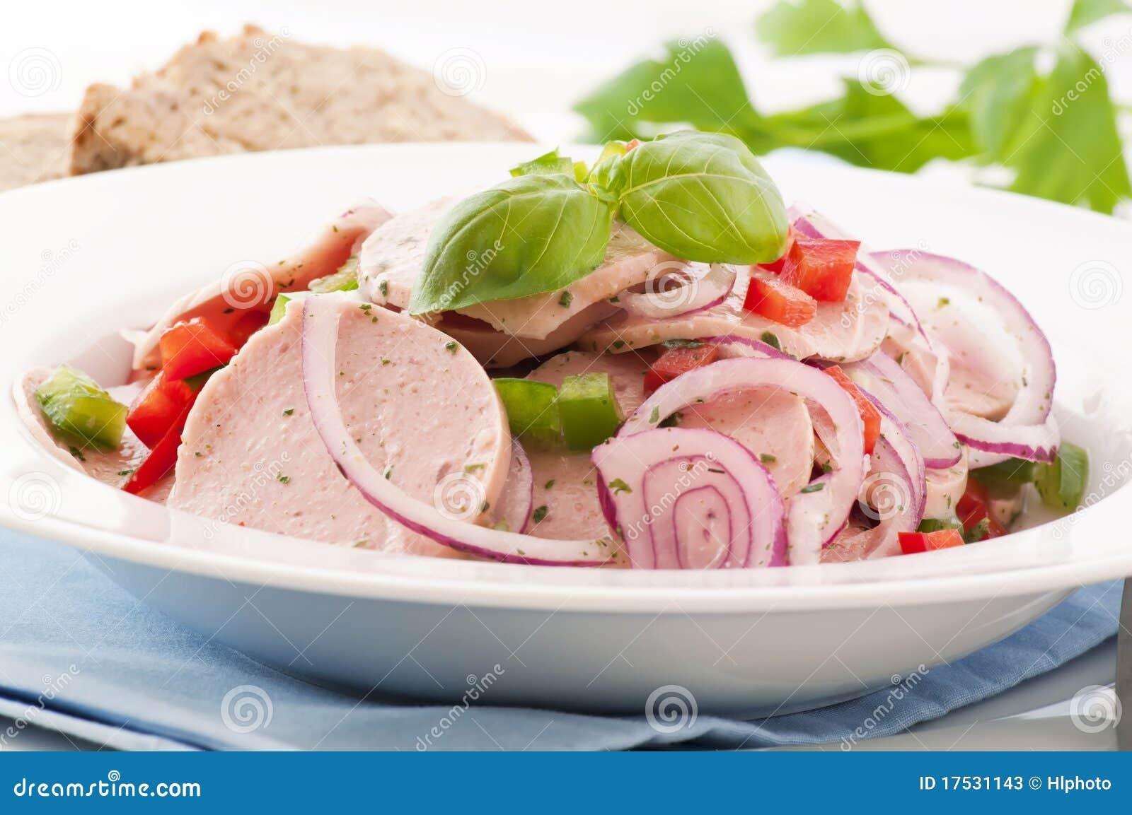 Stock Photos: Bavarian Sausage Salad