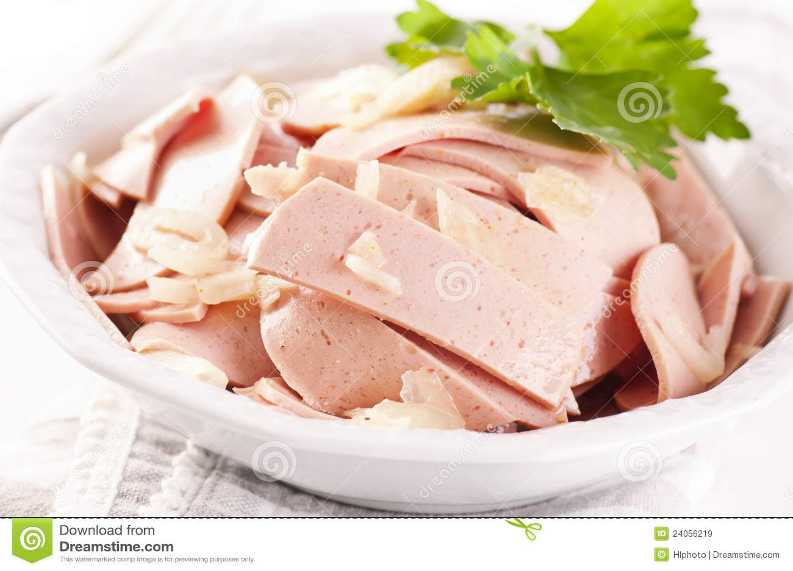 Royalty Free Stock Images: Bavarian sausage salad