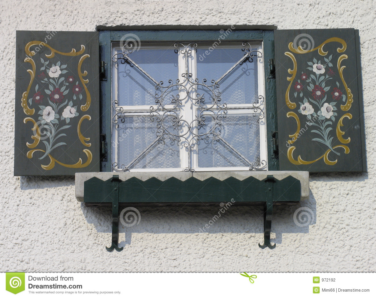 Bavarian Window With Shutters Stock Photography Image