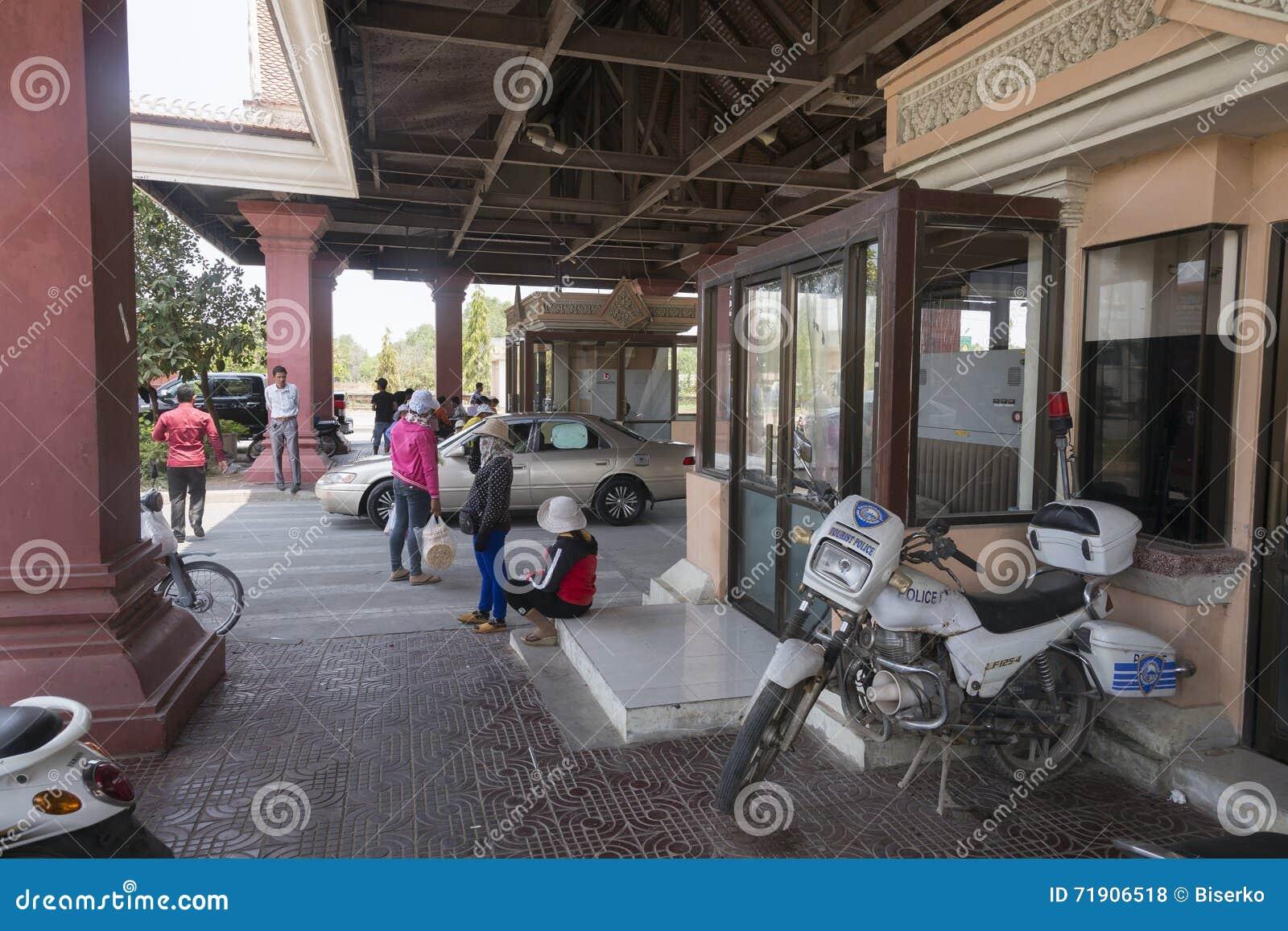 Bavet grensovergang tussen Kambodja en Vietnam