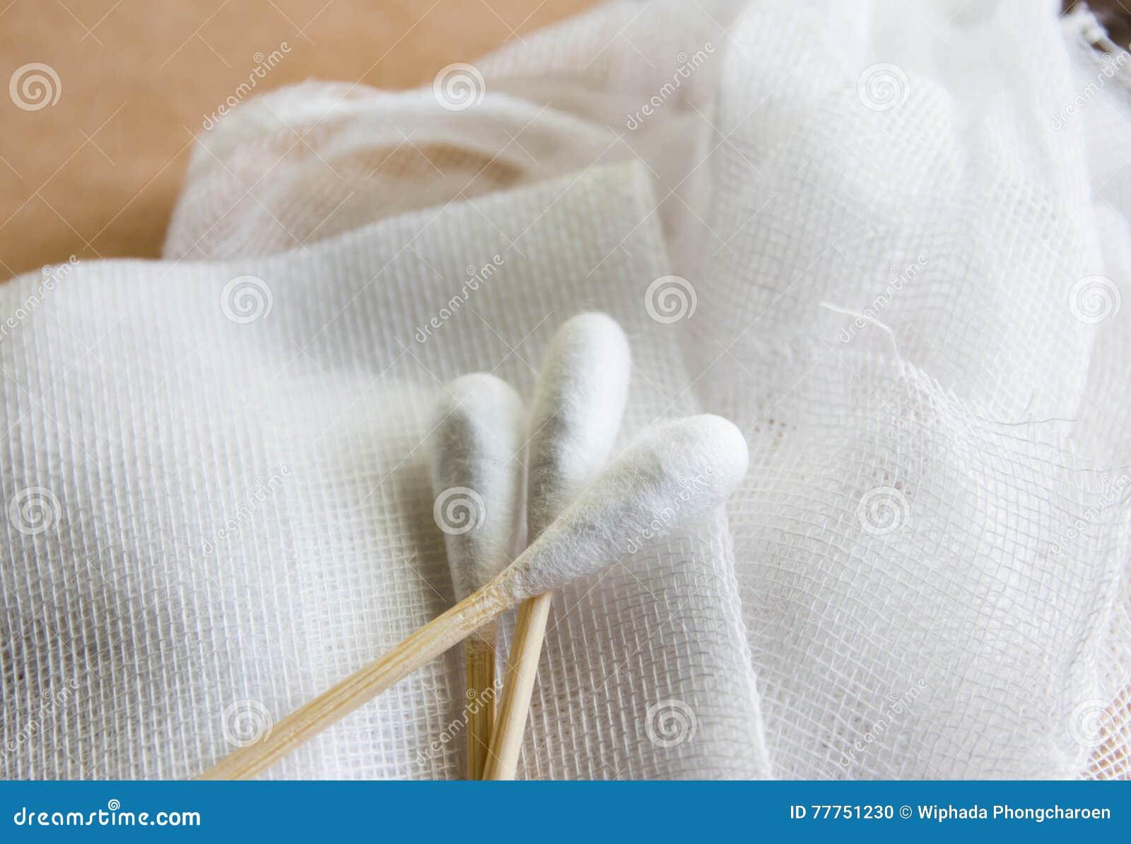 Bawełna z bandaża zdyszanym opatrunkiem ale