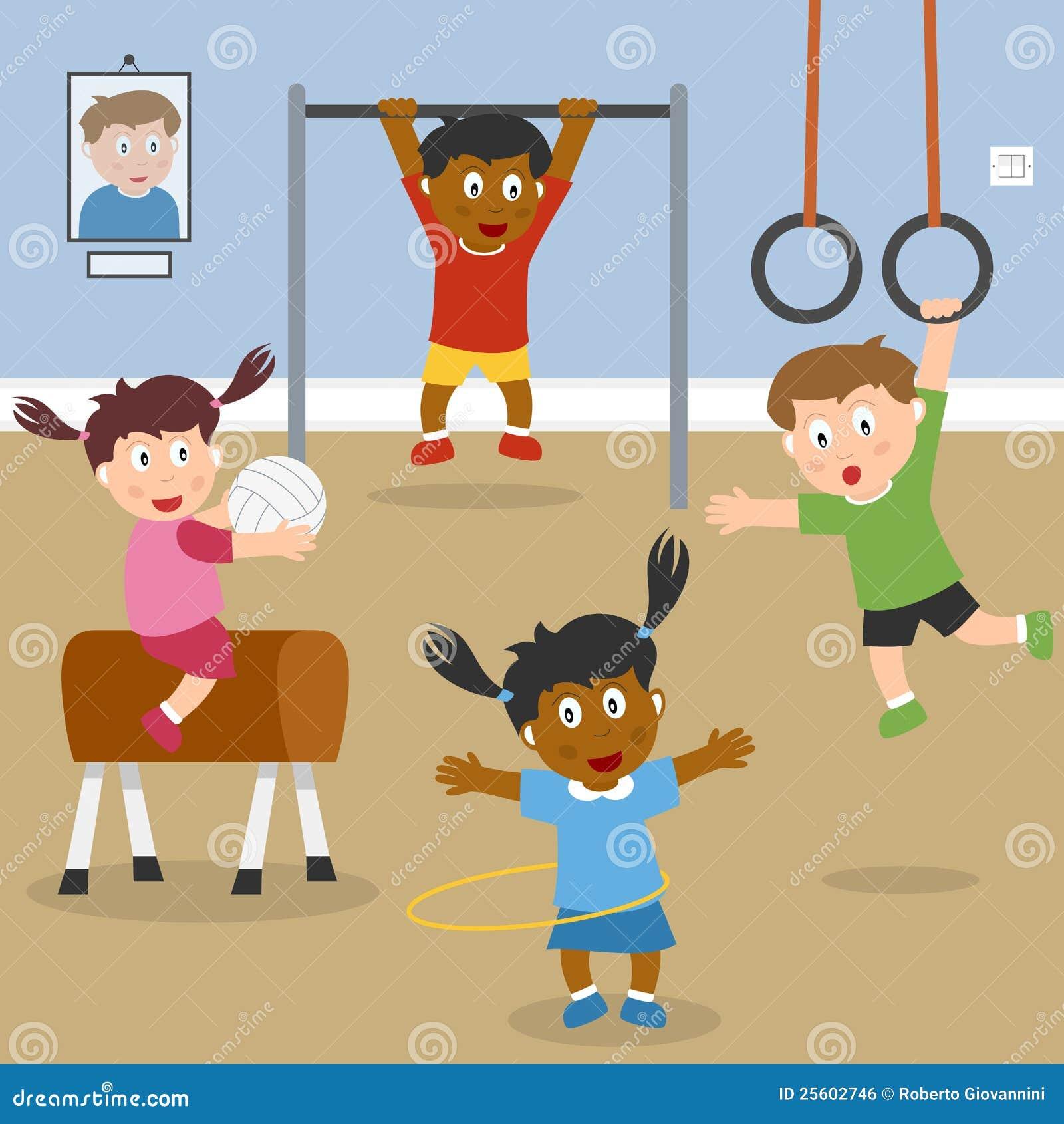 Bawić się szkoły gym dzieciaki