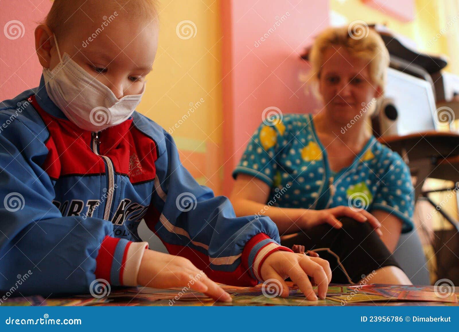 Bawić się sztuka pokój dziecko szpital dziecięcy s