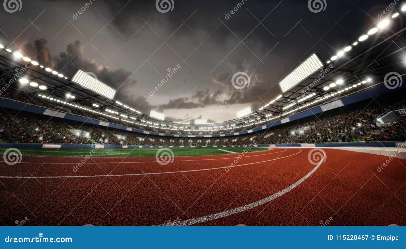 Bawi się tło stadium stadion sportowy arena deszczu