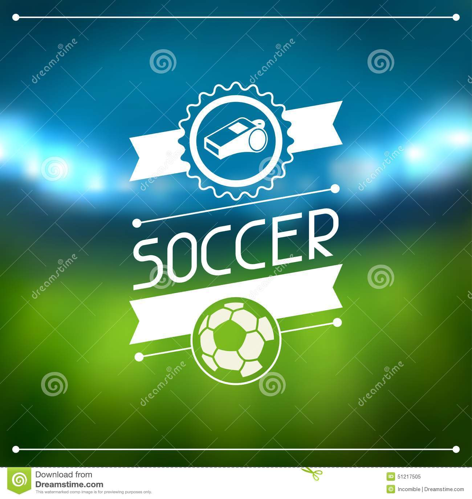 Bawi się tło z stadium piłkarski i etykietkami