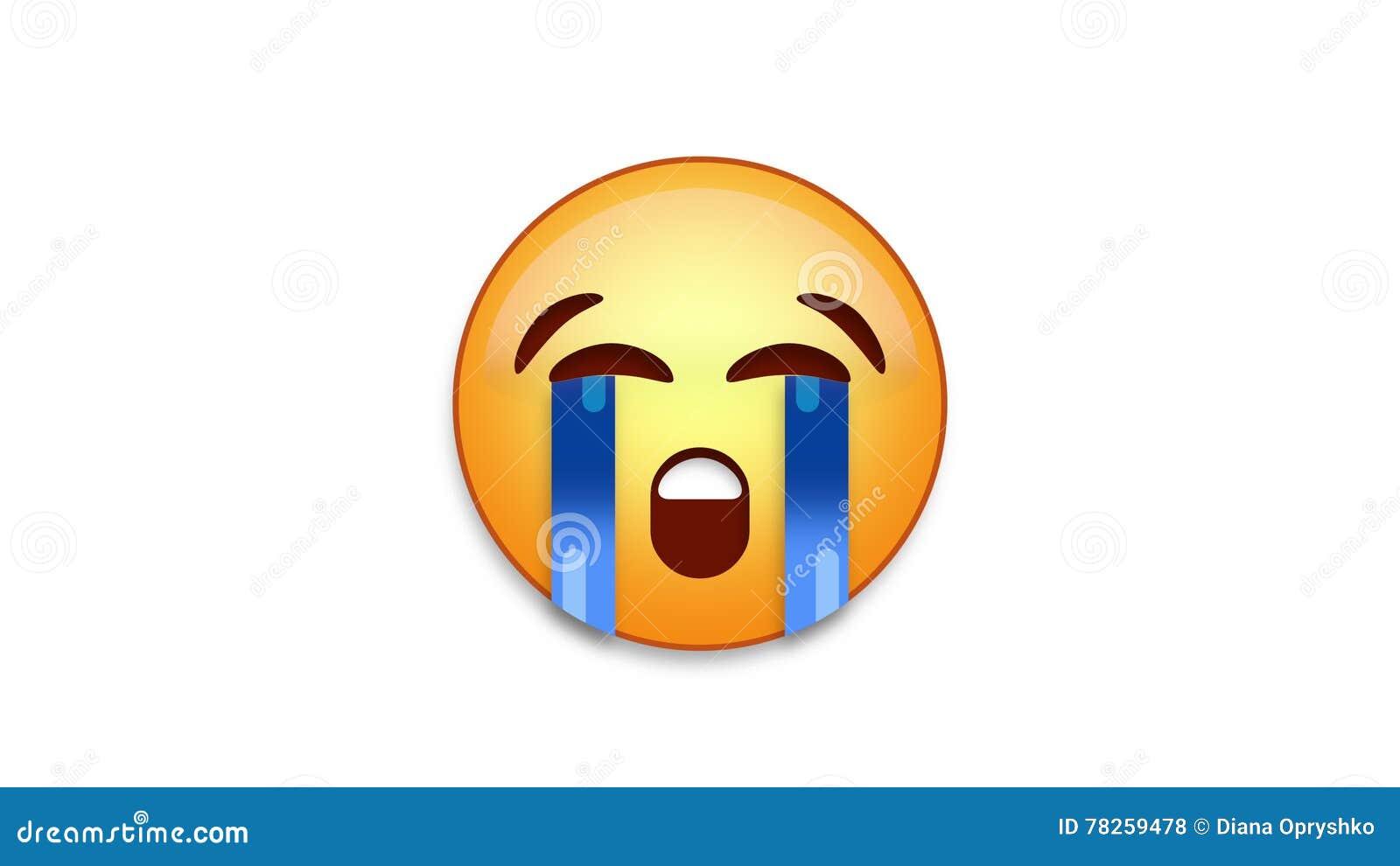 Bawling Emoji με τη μεταλλίνη Luma