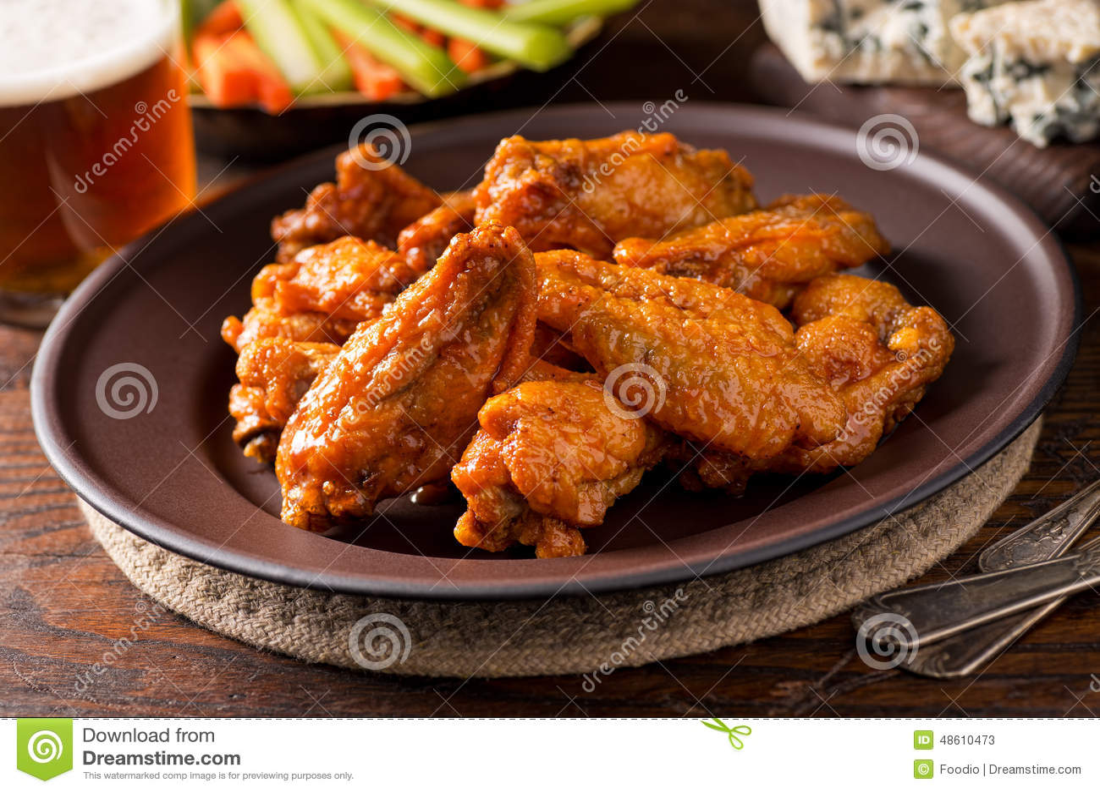 Bawoli kurczaków skrzydła
