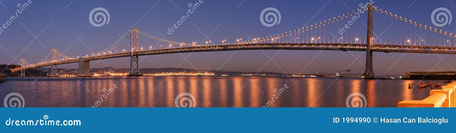 Bay bridge panorama San Francisco