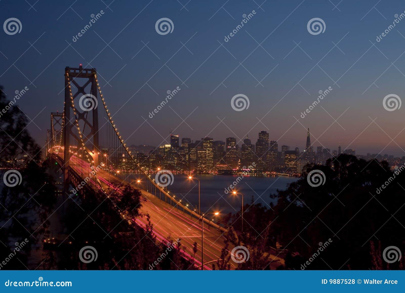 Bay Bridge and San Francisco at Sunset