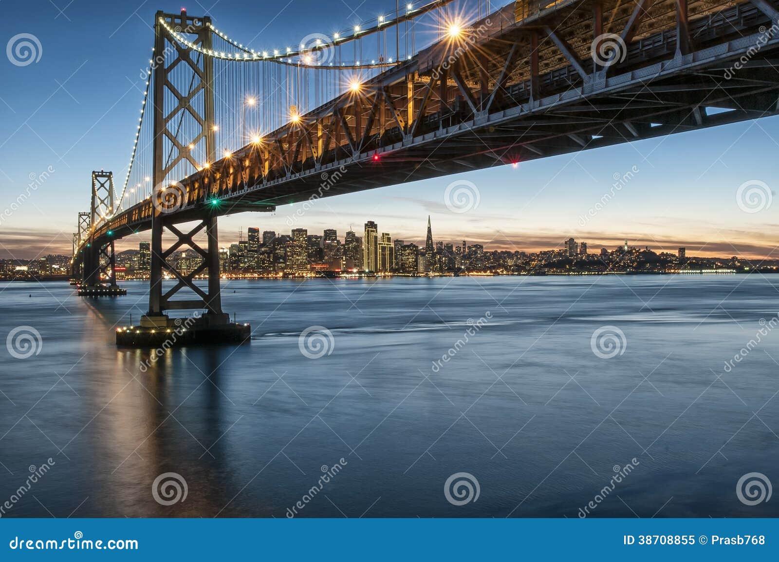 Bay Bridge Lights From Treasure Island