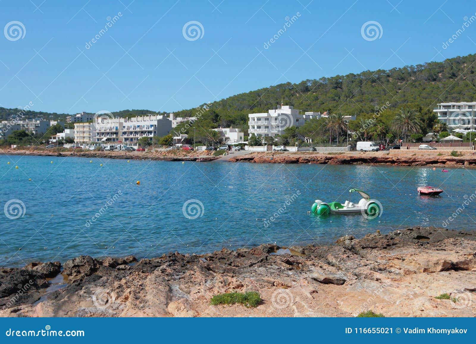 Bay On Calo Des Moro Beach  San Antonio, Ibiza, Spain Stock