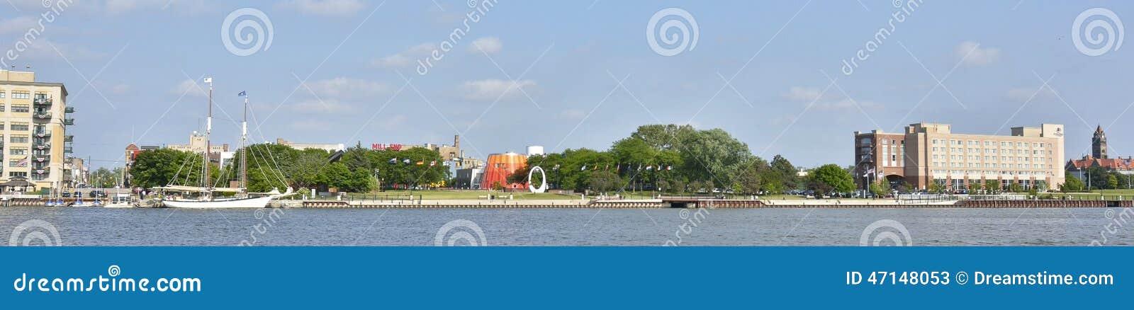 Bay-City, Michigan-Ufergegend
