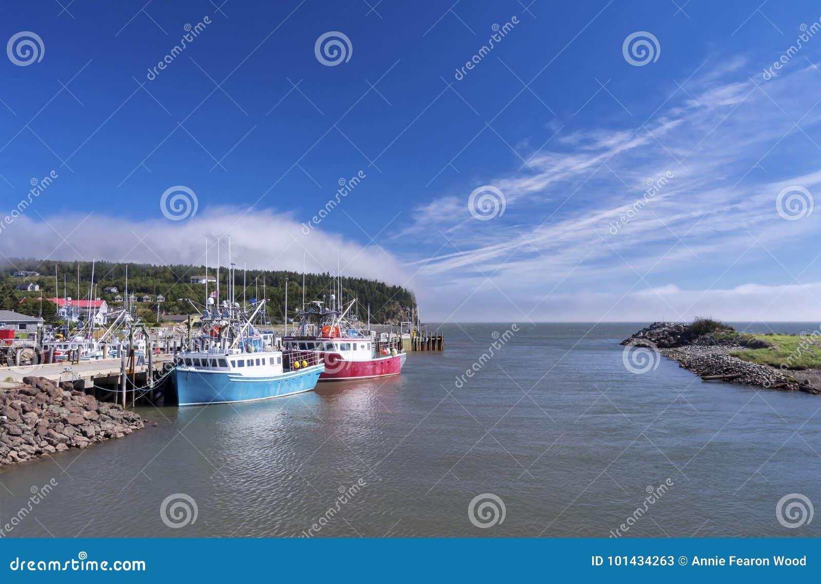 Bay Of Fundy, New Brunswick, Canada Stock Image - Image of