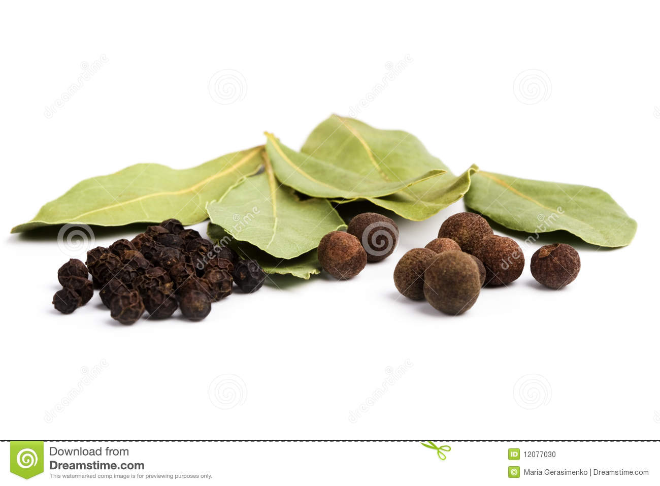 Bay leaves and pepper stock photo image 12077030 - Cook bay leaves ...