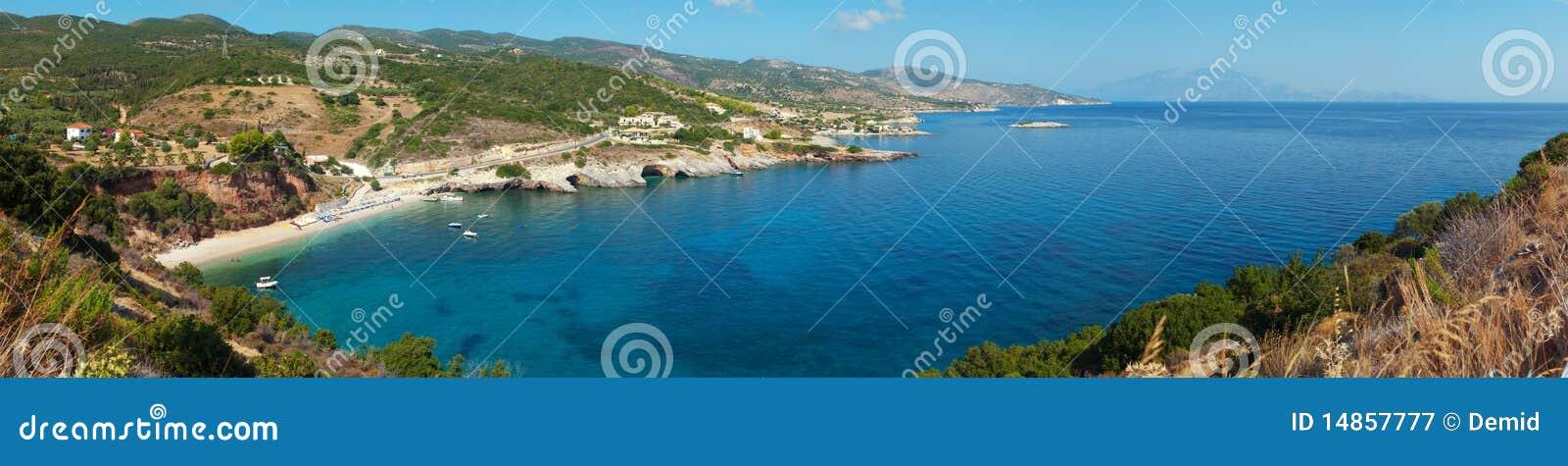 Bay on Mediterranean Island.