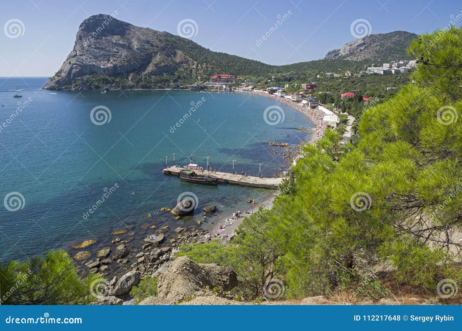 A small bay on the Black Sea coast. Crimea.