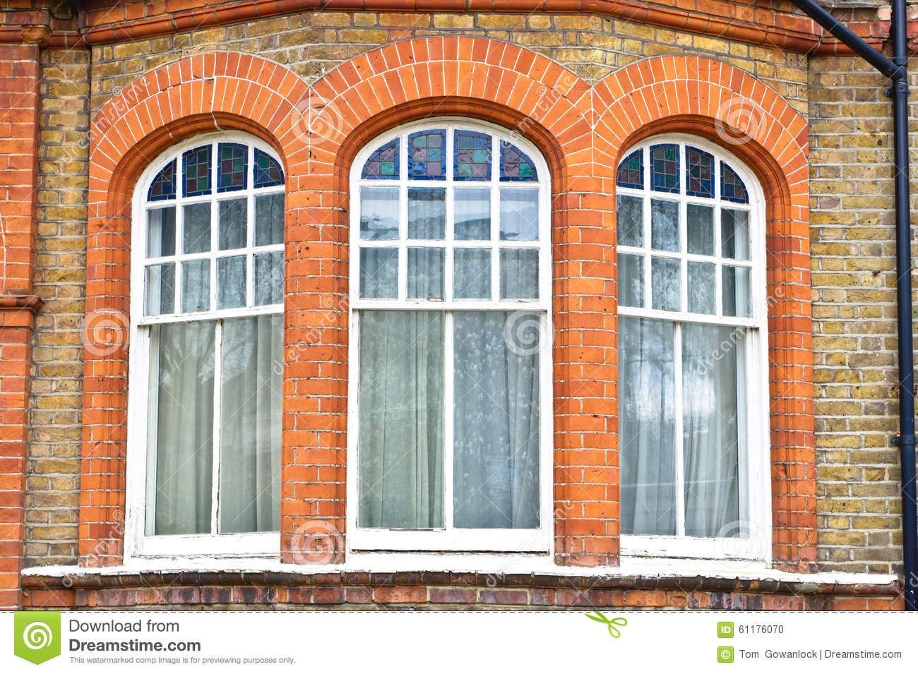 Bay window stock photo image of nobody formal large for Arched bay windows
