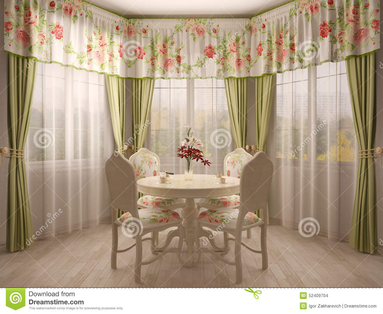 Bay Window With Dining Table