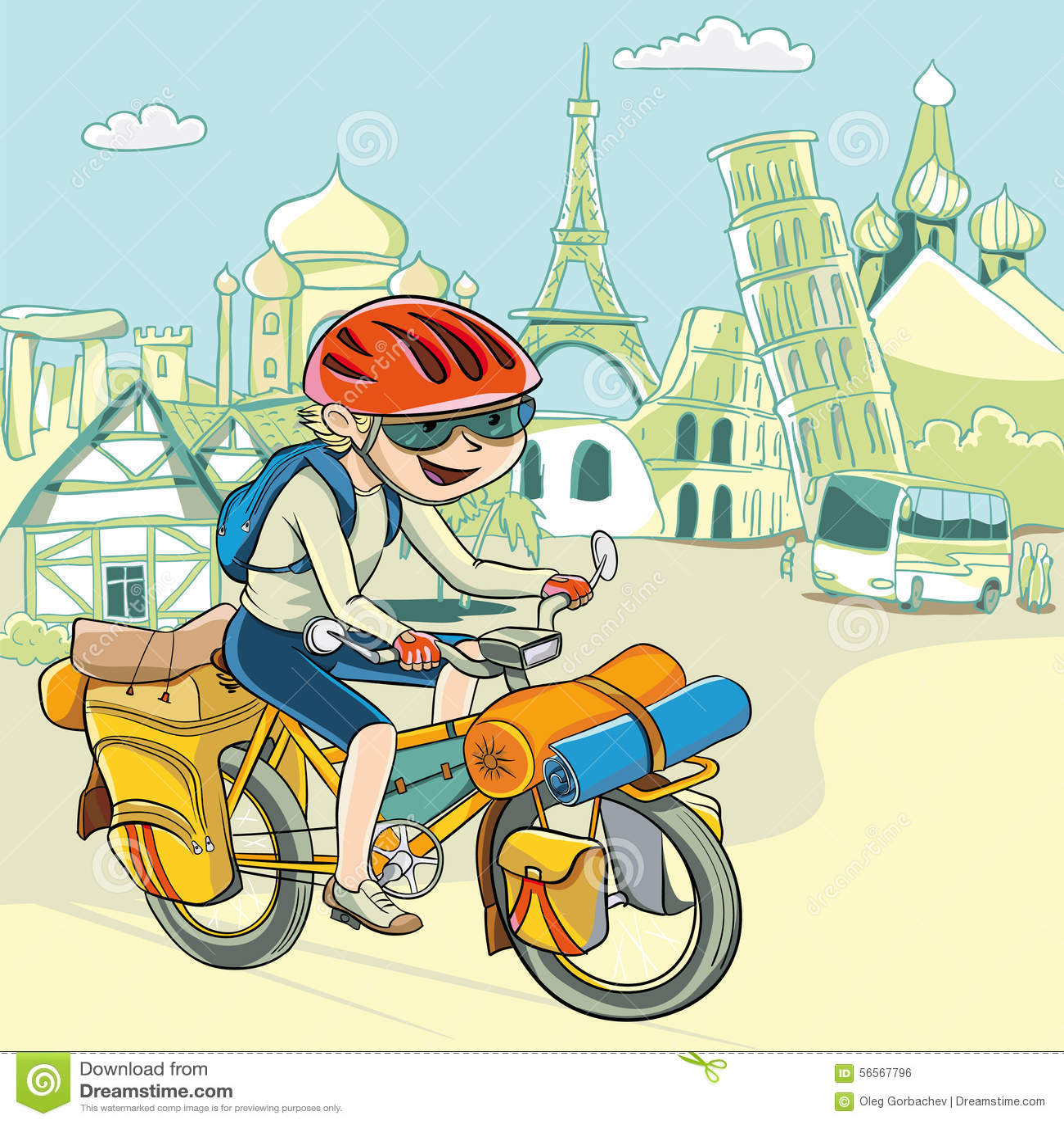 Download BaycikJourney σε όλο τον κόσμο με το ποδήλατο LE Διανυσματική απεικόνιση - εικονογραφία από εξοπλισμός, κίνηση: 56567796