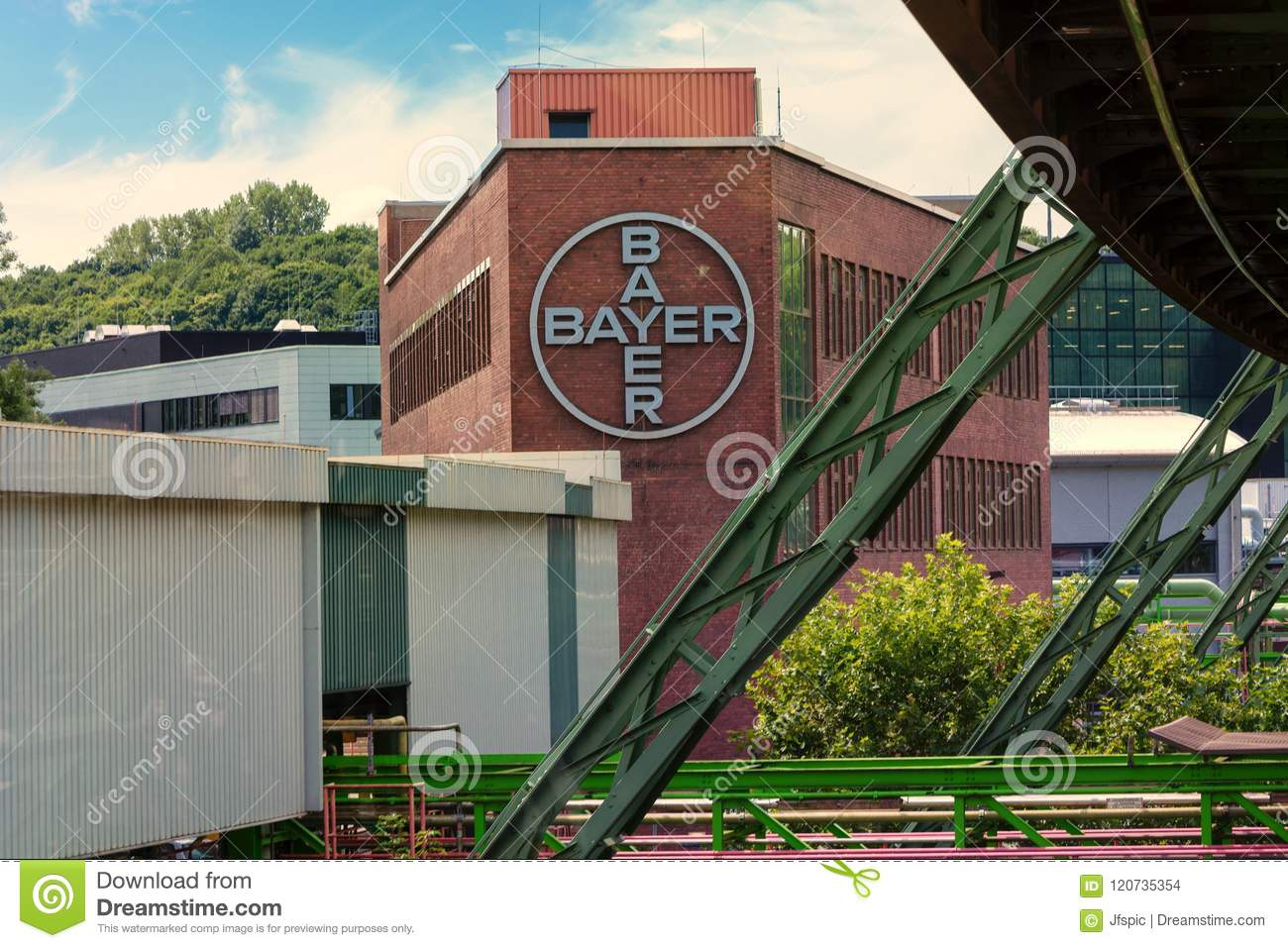 The Bayer Ag Plants Located In Wuppertal Elberfeld Editorial Stock