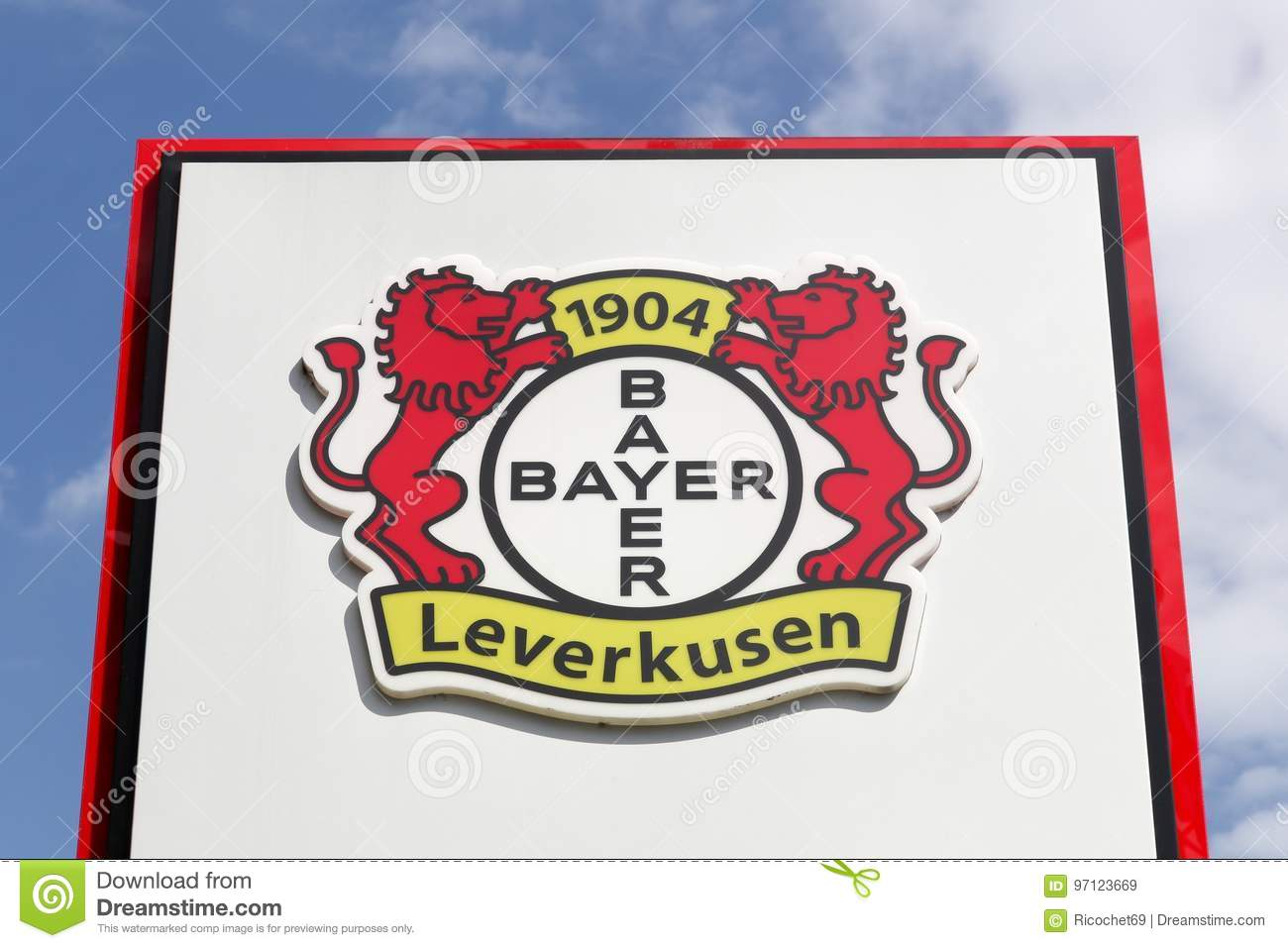 Bayer Leverkusen Logo On A Panel Editorial Stock Image Image Of