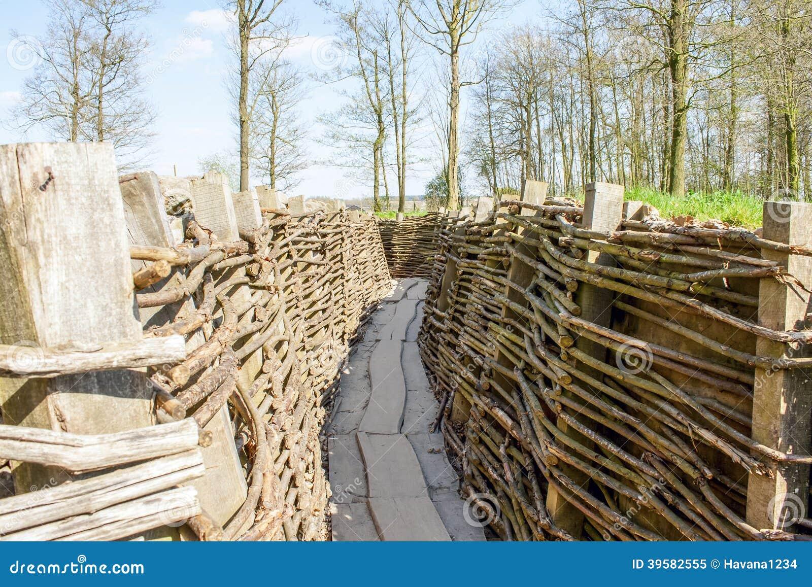 Bayernwald掘沟第一次世界大战富兰德比利时