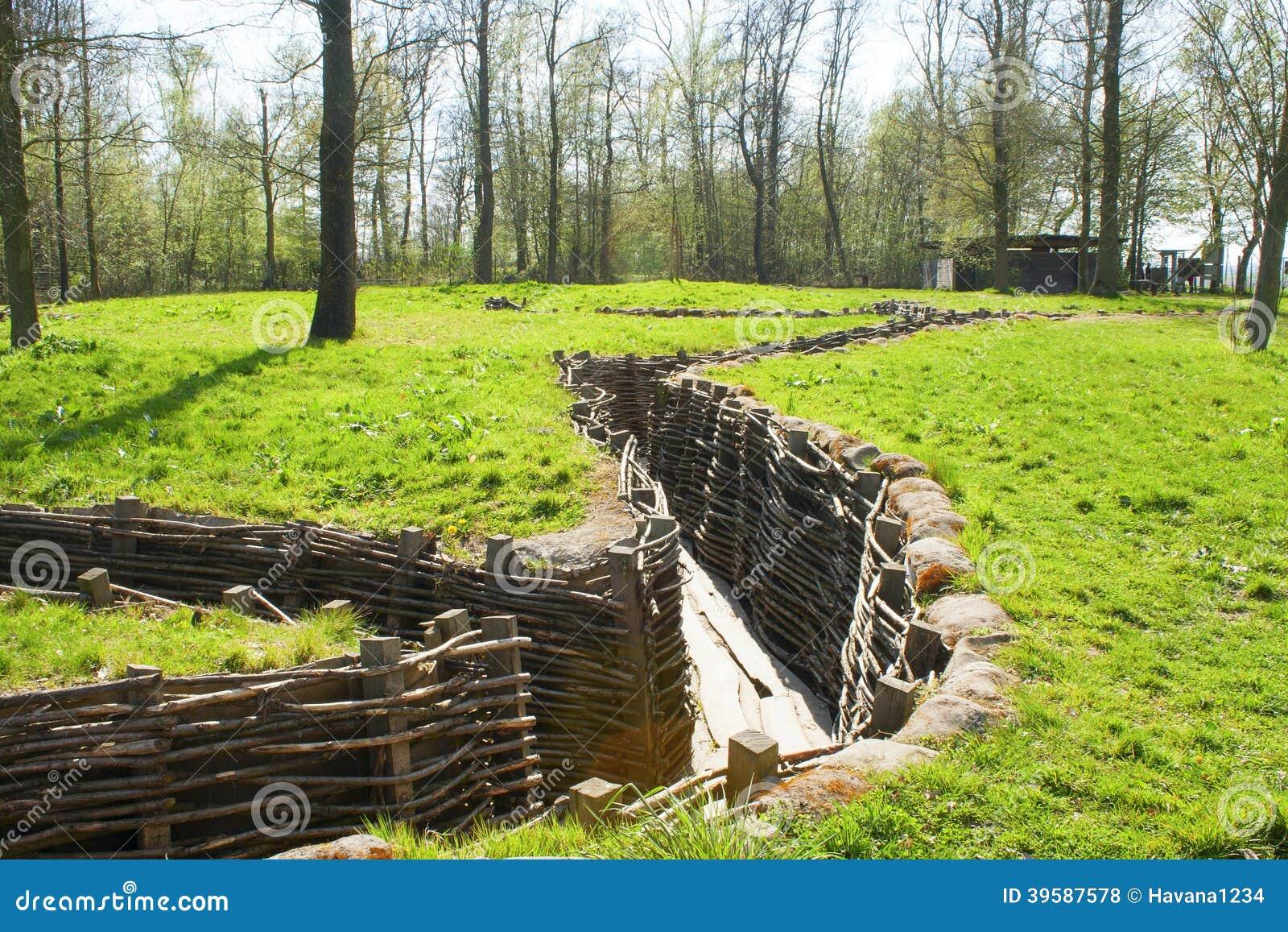 Bayernwald Trenches la Primera Guerra Mundial Flandes Bélgica