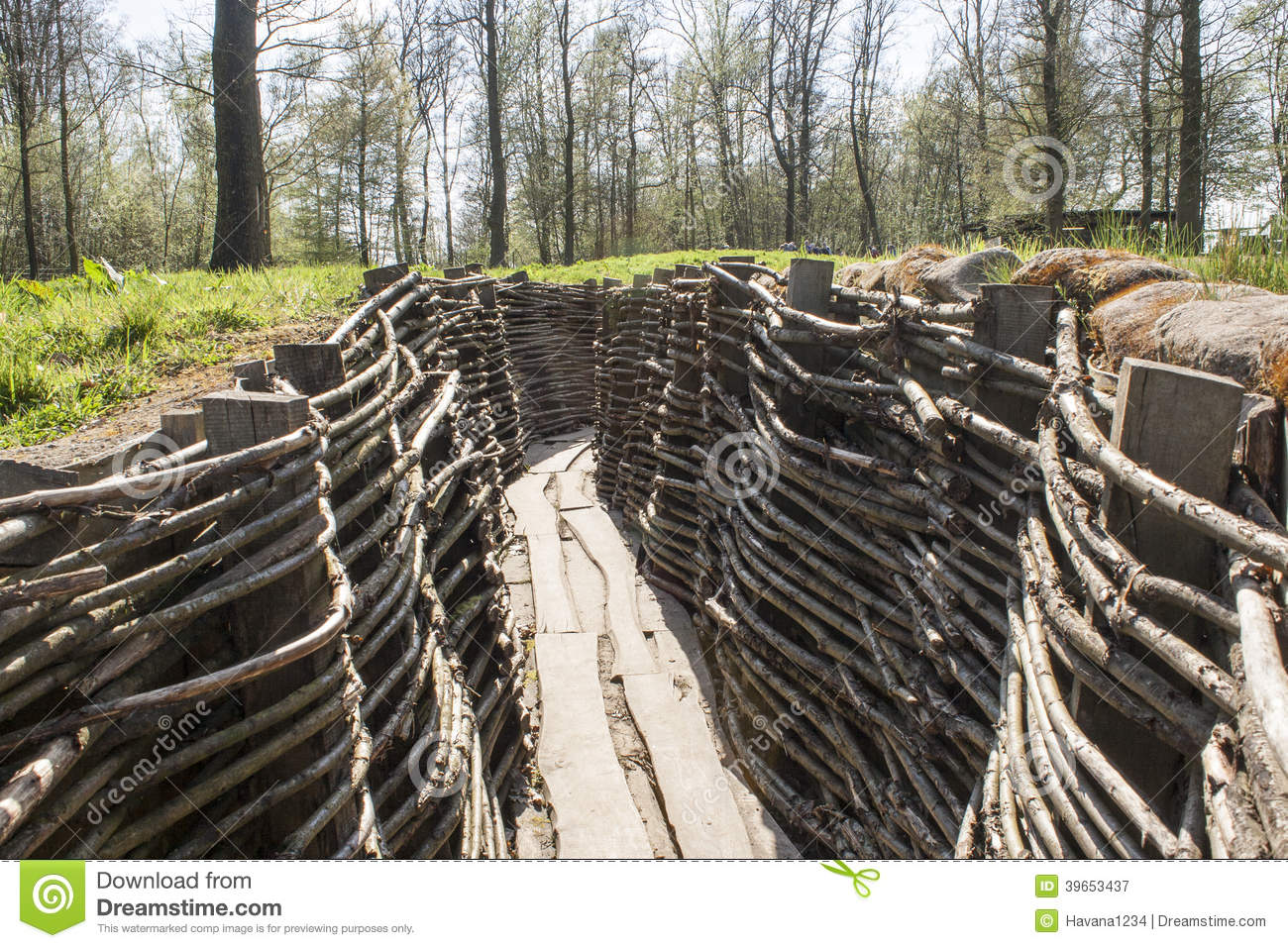 The Bayernwald Trenches world war one flanders Belgium