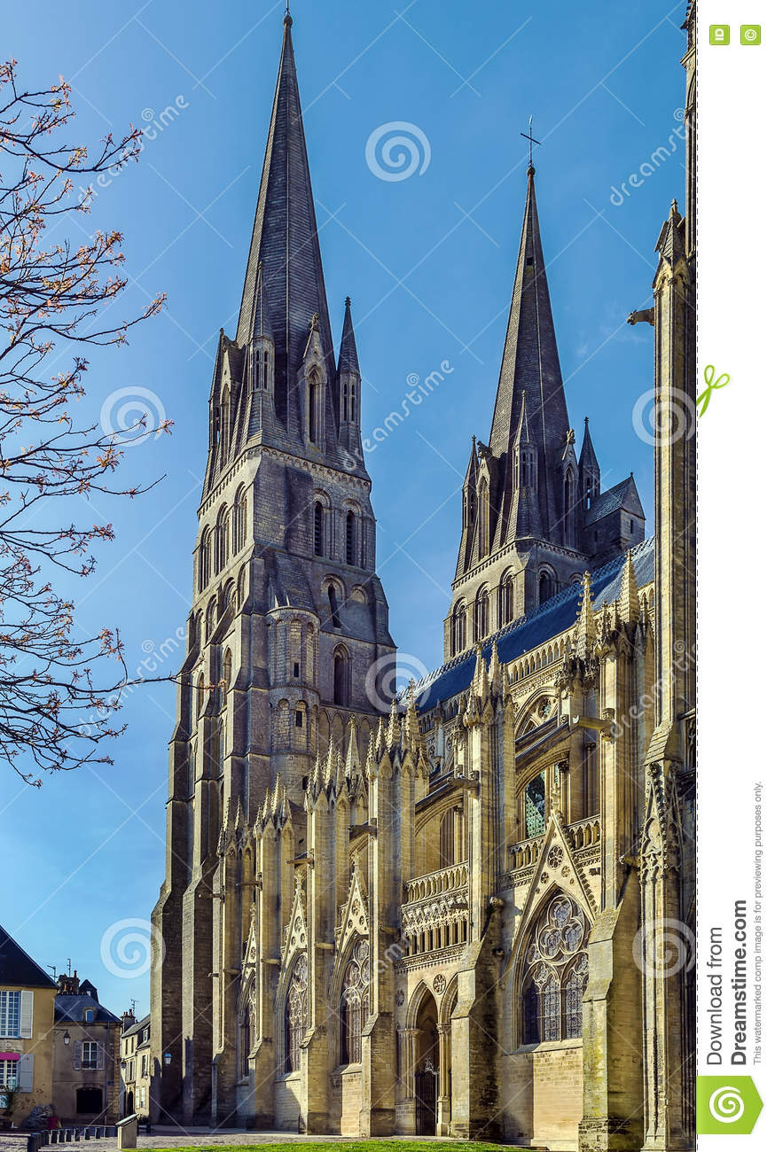 Bayeux Cathedral France Stock Image Image Of Gothic 75915029