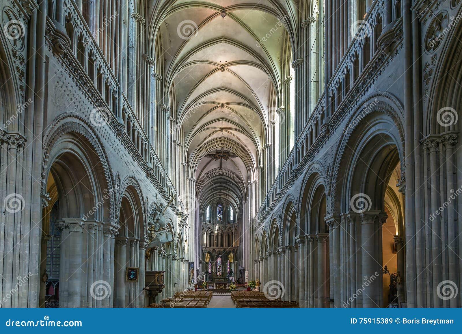 Bayeux Cathedral France Stock Image Image Of Landmark