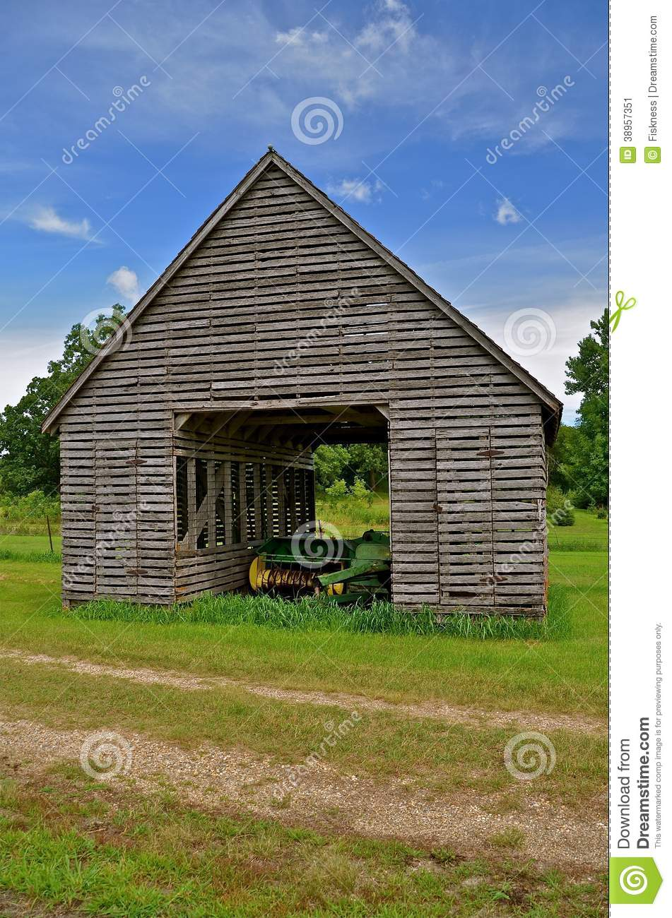baler in an old corn crib royalty free stock photography corn field clipart black and white Farm Clip Art