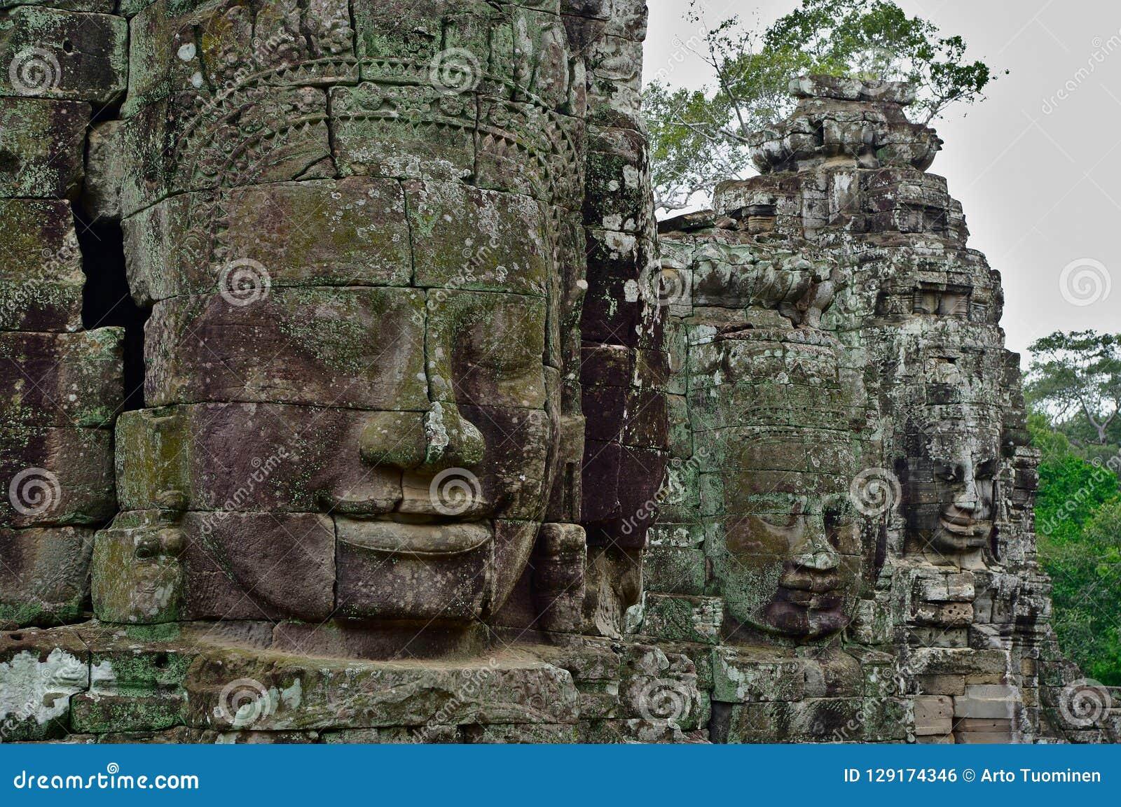 Stone faces of Bayon temple, Siemreap, Cambodia.