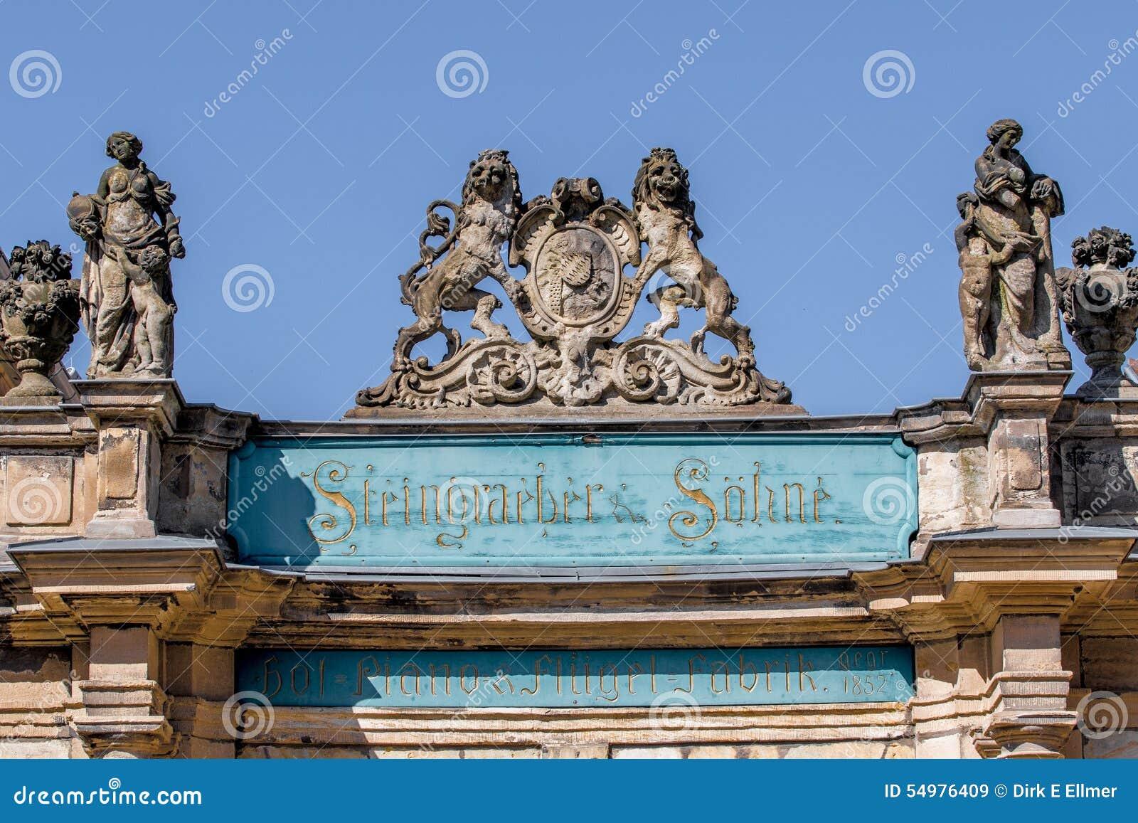 Bayreuth gammal stad - Steingraeber pianomanufacturerr