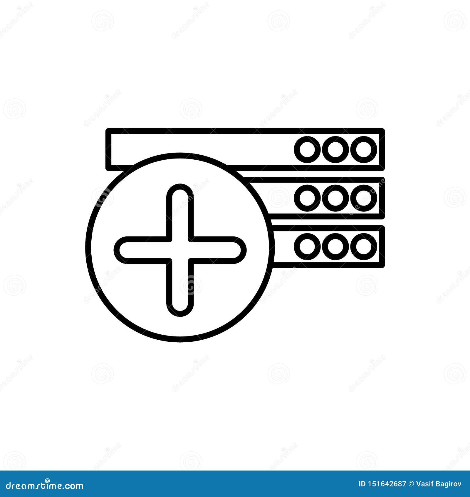 Baza danych, serwer ikona - wektor Baza danych wektoru ikona