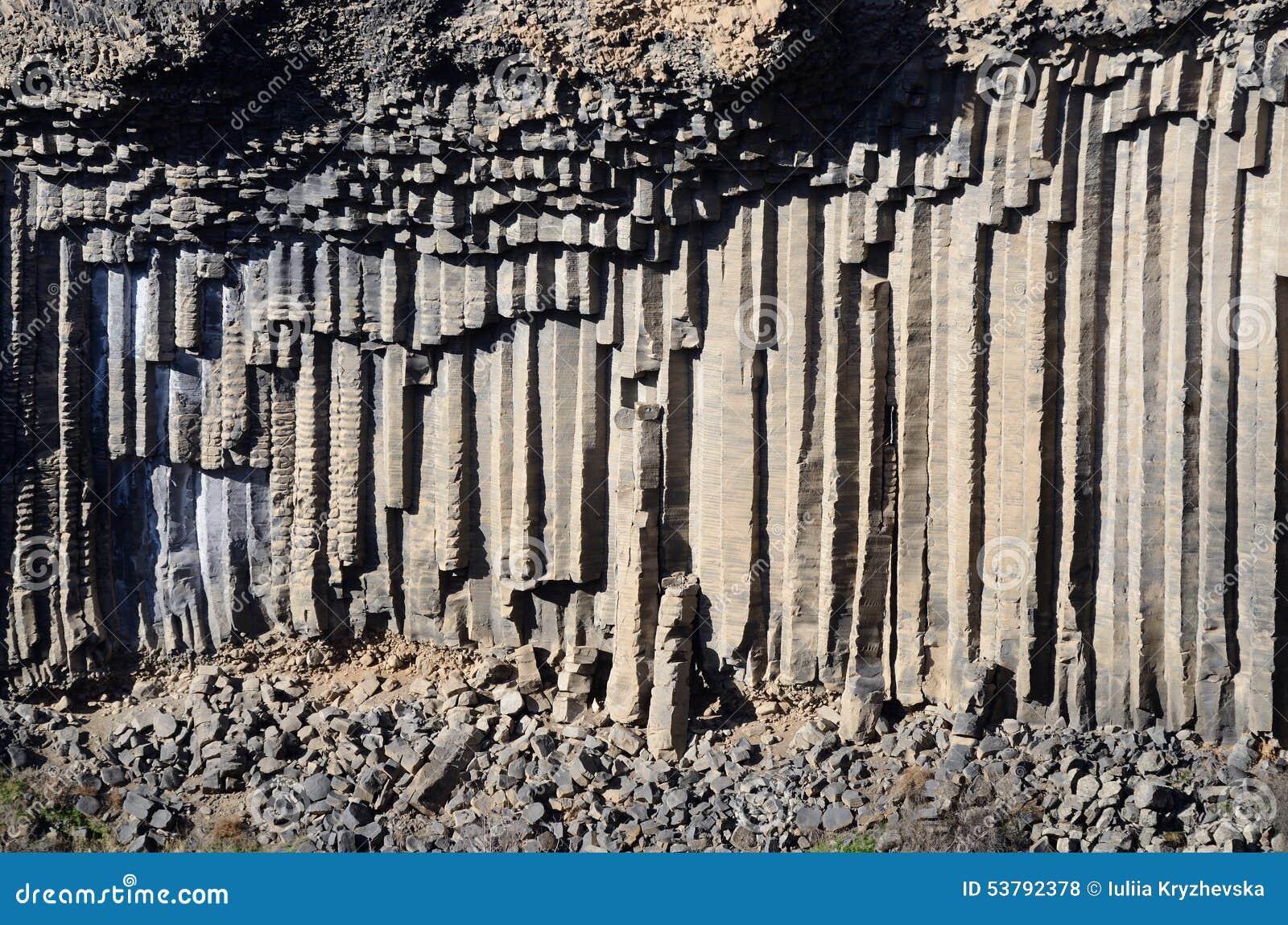 Bazaltowe kolumny Garni wąwóz, Armenia, Kaukaz góry, Azja