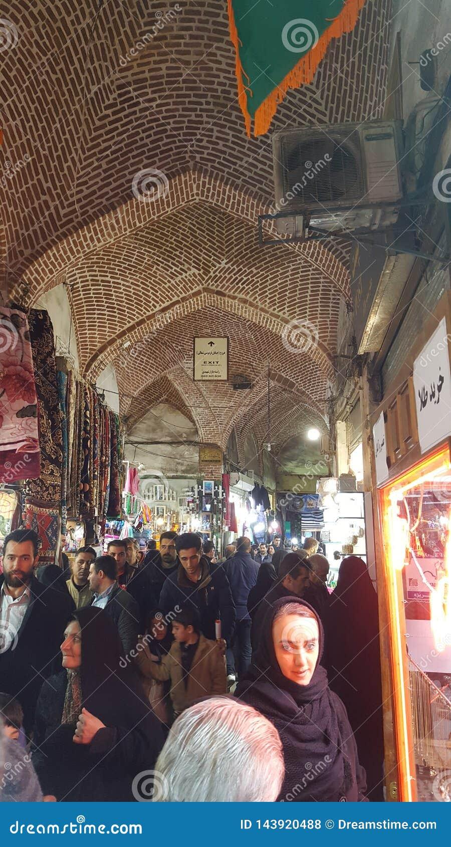 Bazar de Irán Tabriz