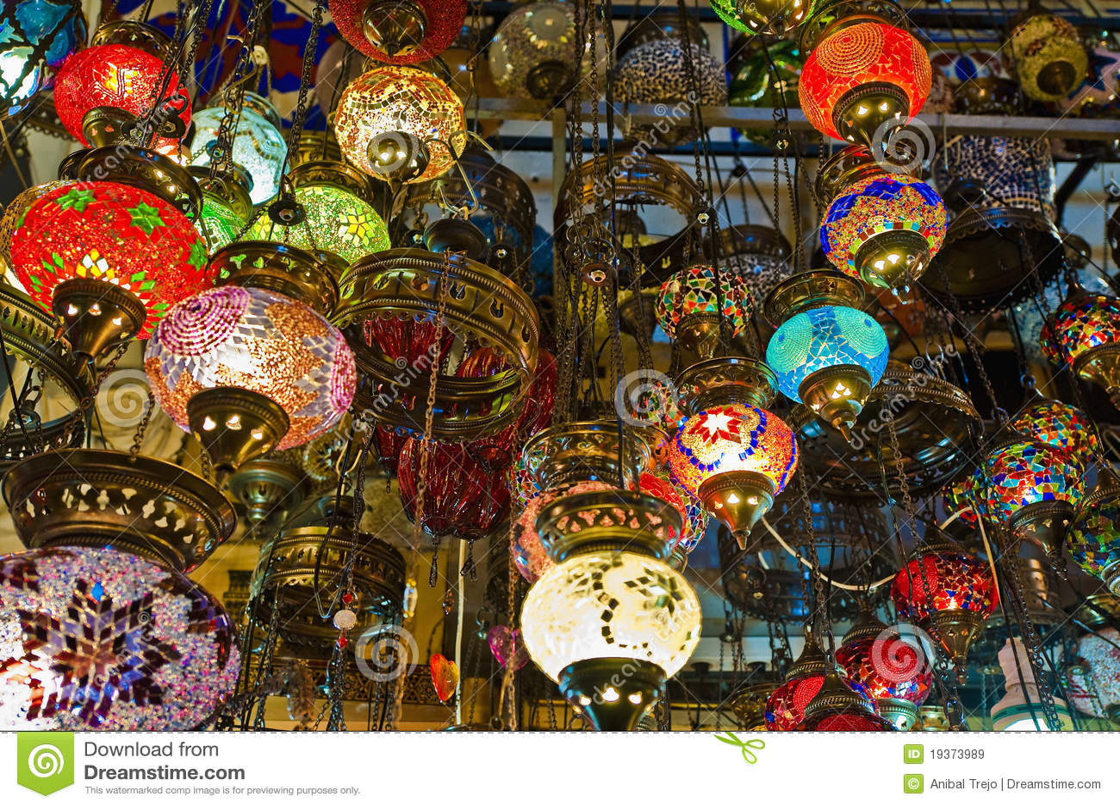 Bazar grande em Istambul