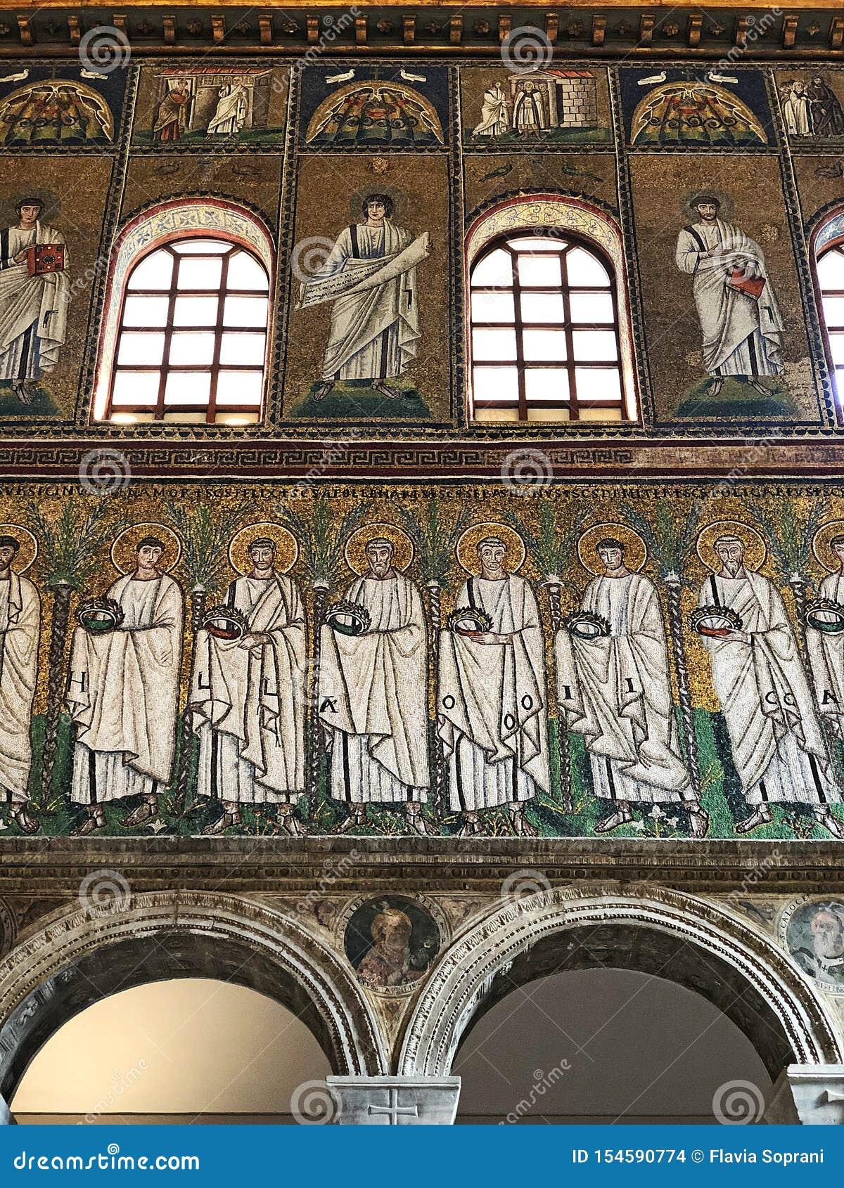 Bazylika sant Apollinare Nuovo, Ravenna, Włochy mozaiki