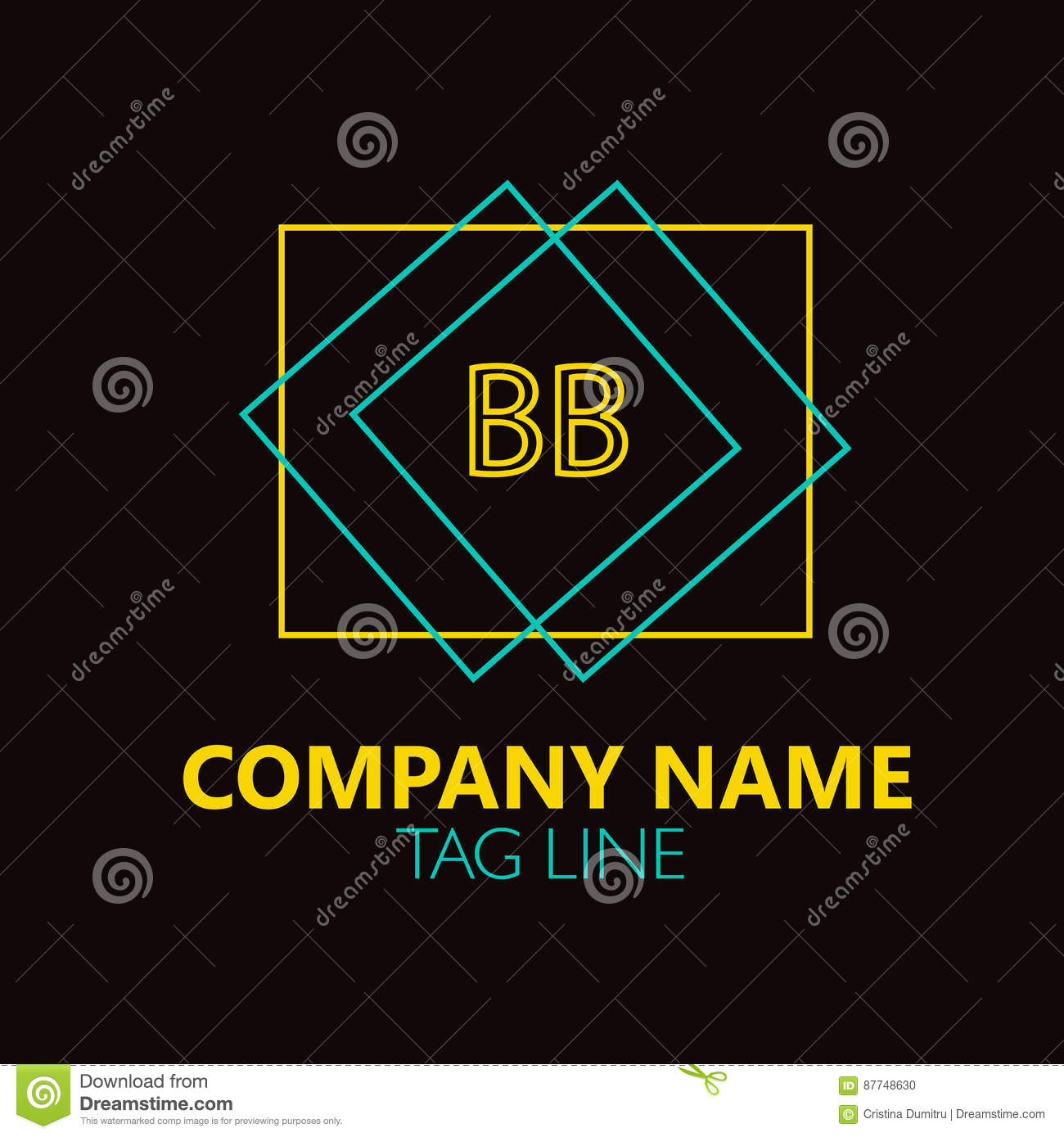 Bb Letter Logo Design Stock Vector Illustration Of Internet 87748630
