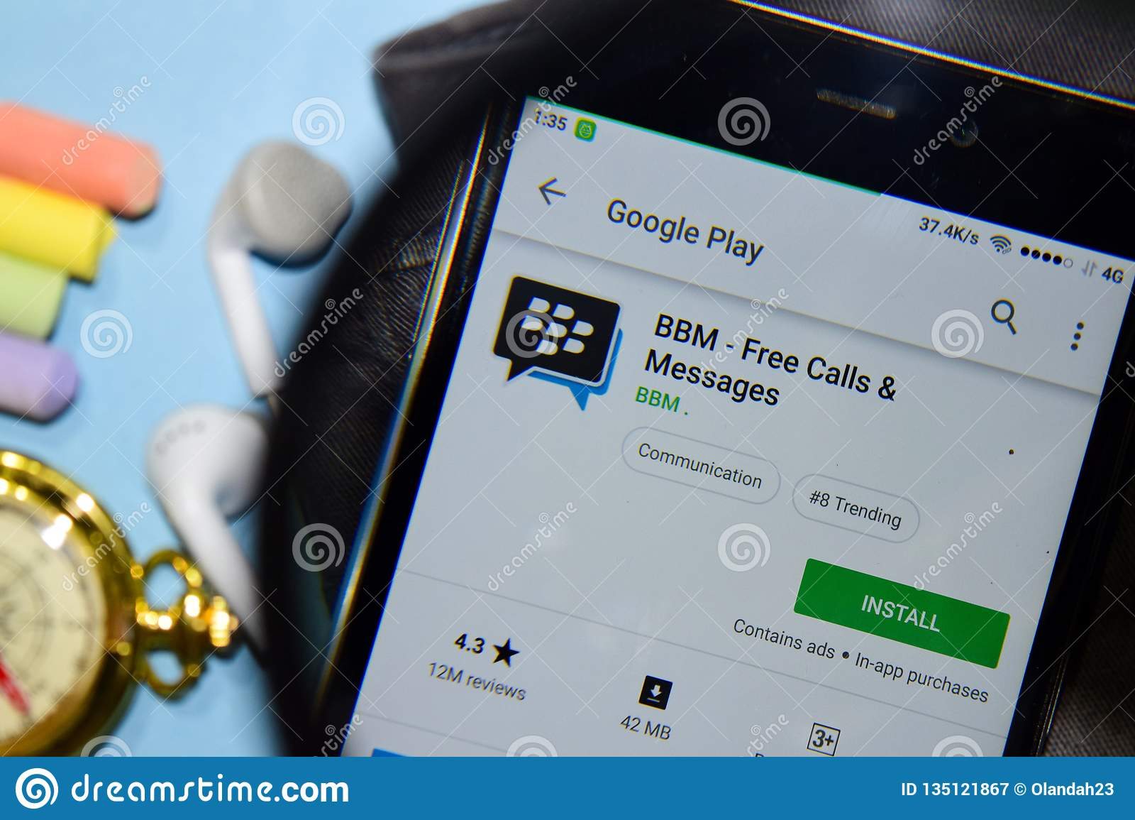 BBM - App dello sviluppatore libero dei messaggi & di chiamate con l ingrandimento sullo schermo di Smartphone