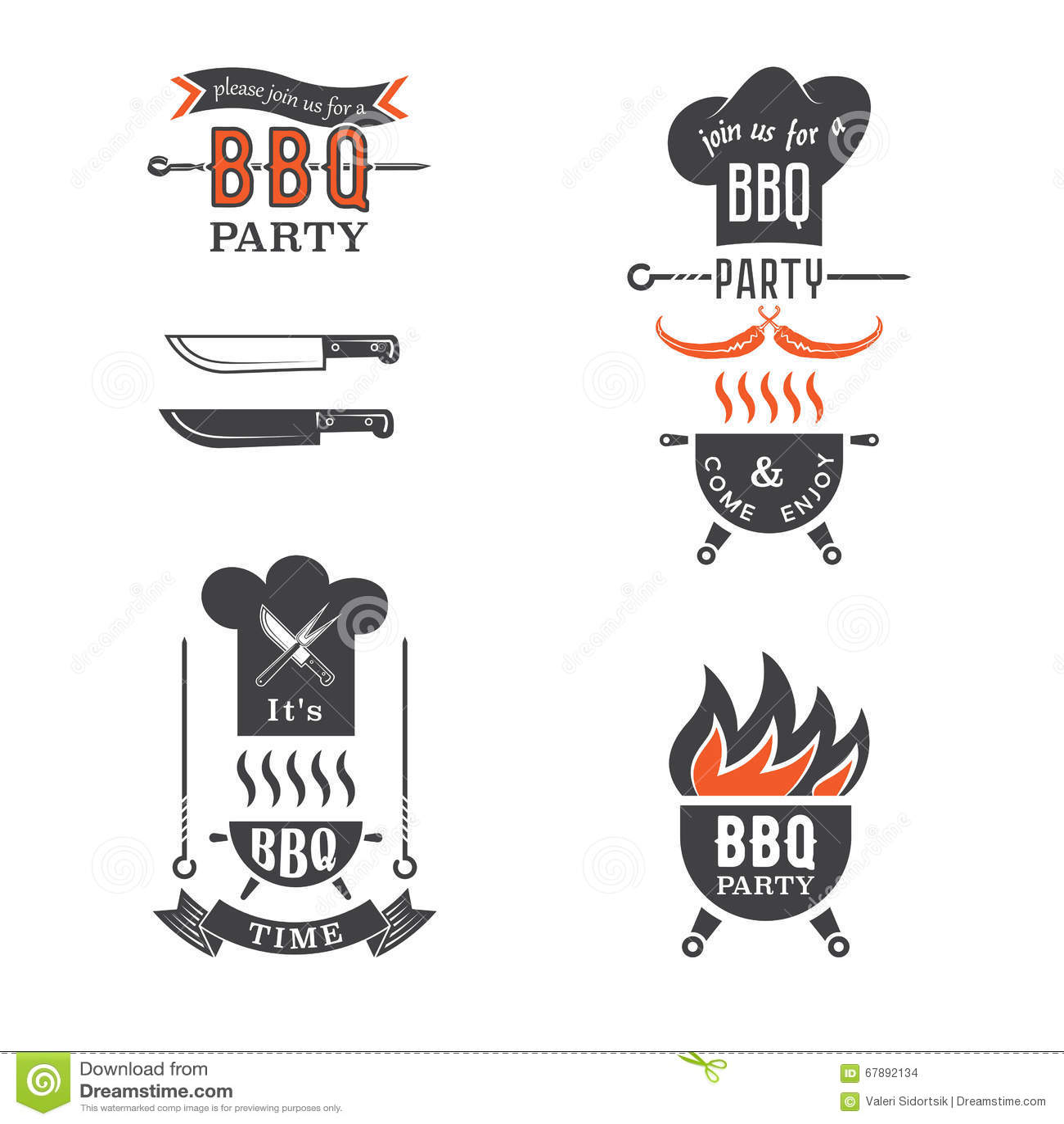 BBQ党邀请卡片元素