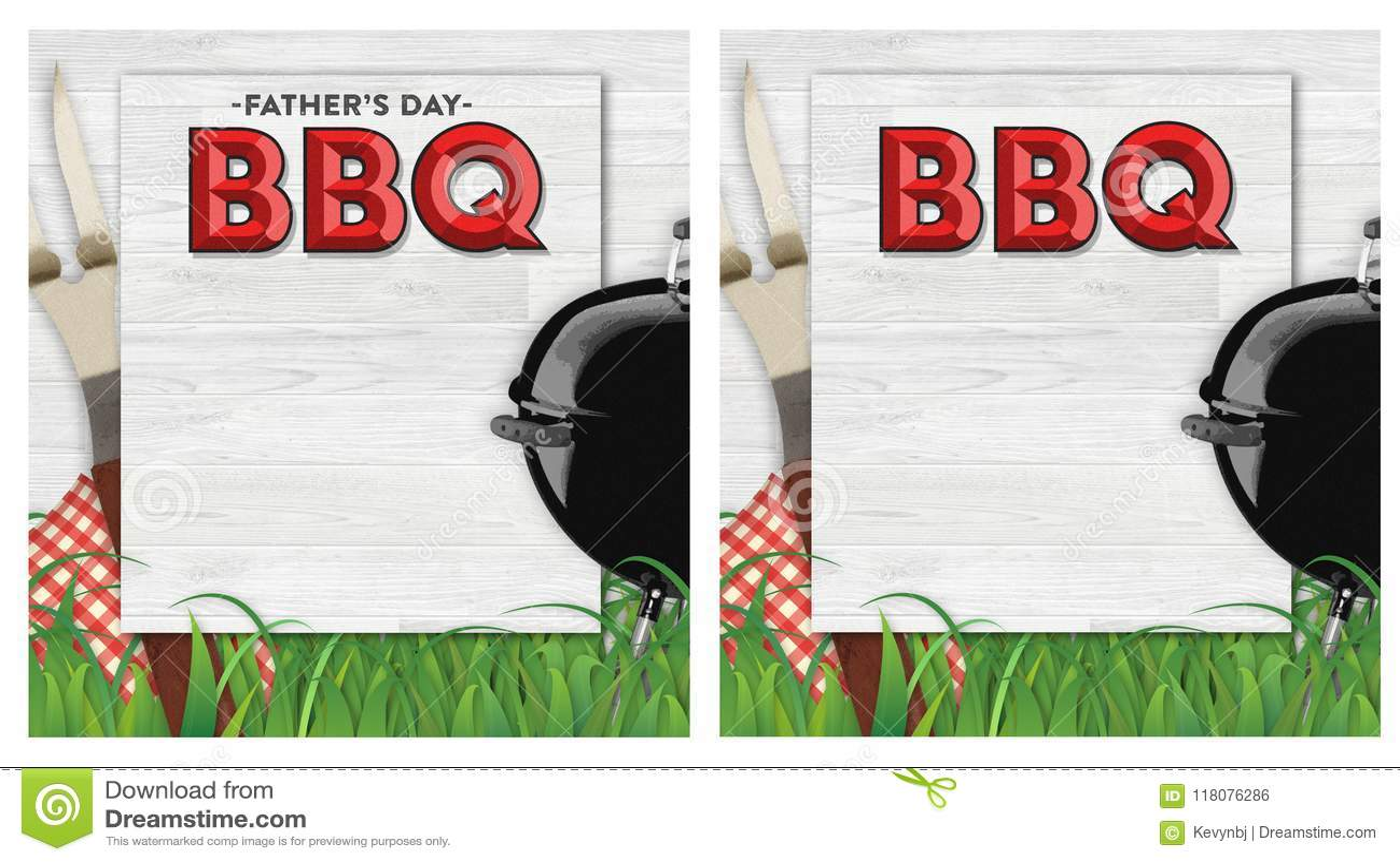 BBQ ημέρας πατέρων πρόσκληση