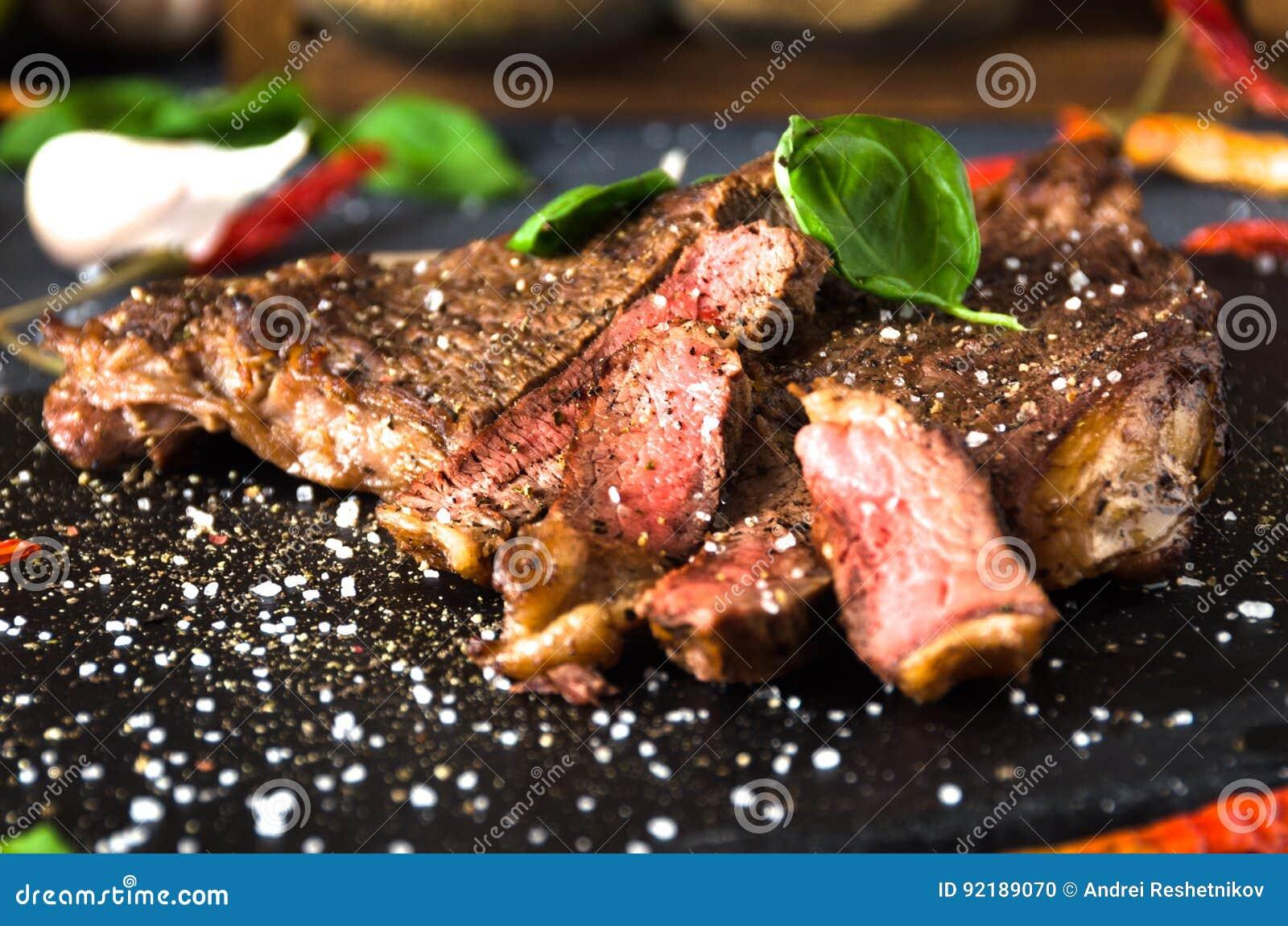 Bbq σκόρδο πιπεριών ασβέστη καρυκευμάτων μπριζόλας