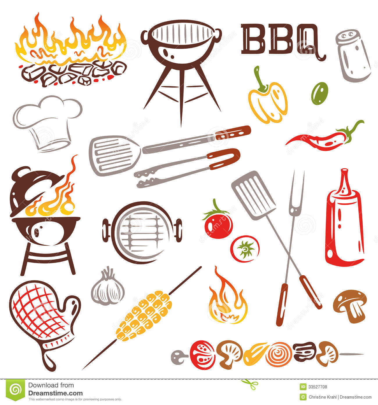 BBQ, Barbecue Royalty Free Stock Photos - Image: 33527708