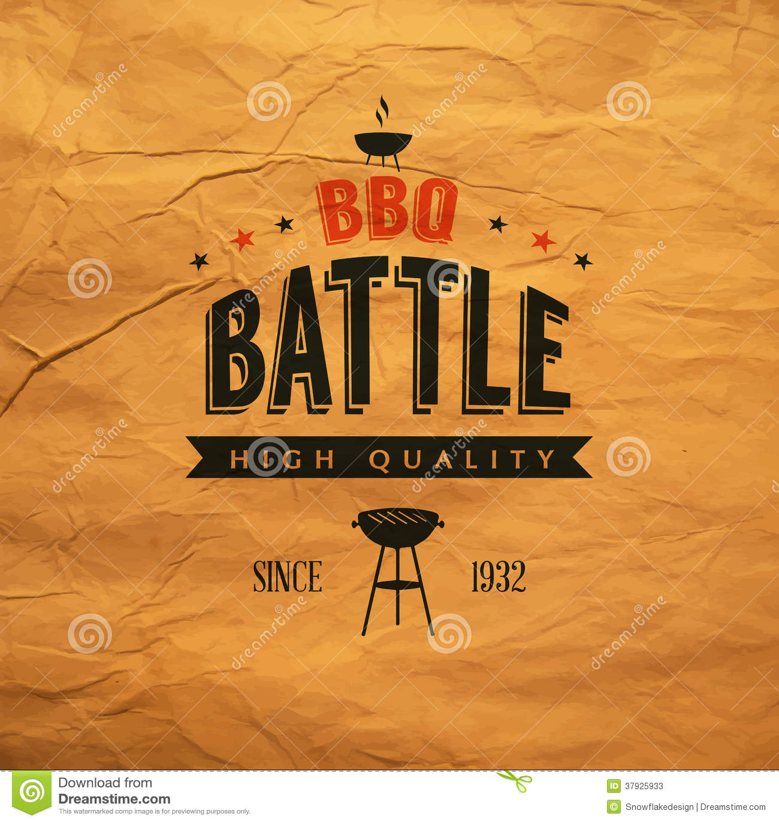 BBQ battle label