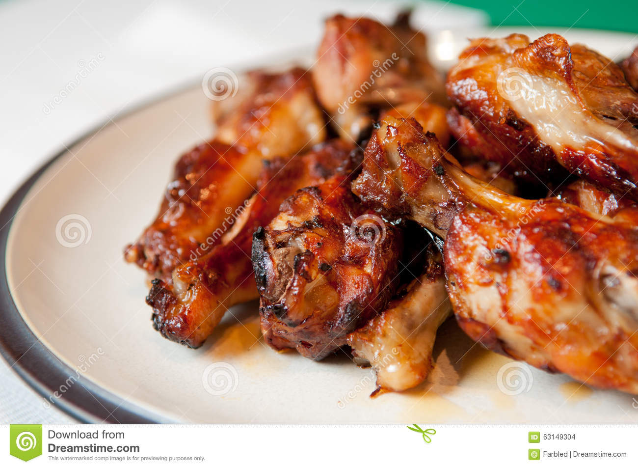 Bbq Chicken Wings With Sauce, Grilled And Tasty Finger ...