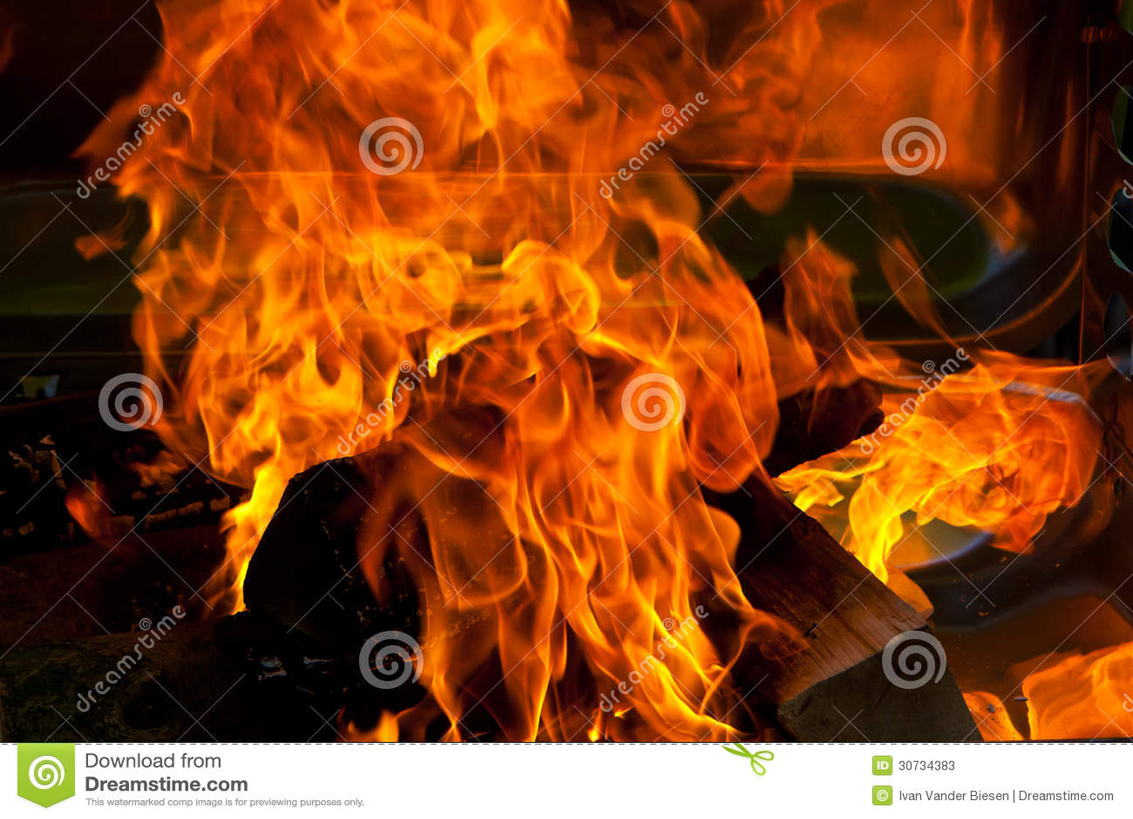 BBQ di legno del fuoco